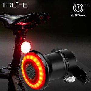 TrLife IPX6 Wasserdichte Auto Start / Haltestelle für Fahrrad Fahrrad Rücklicht Bremse Sensing LED USB-Ladezyklus TAILLIGHT1