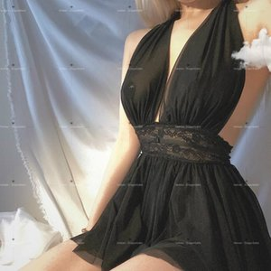 Womens 숙녀 란제리 야간 가운 Nighty Sexy Women 's Summer Nightshirt Night Dress Sleepwear Nightwear Lace Nightgown Bhpnq