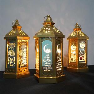 Ramadan Lamp Eid Mubarak Ramadan Party LED Colgando Linternas 14 * 28 cm luces cálidas Islam Muslim Event Party Decoraciones