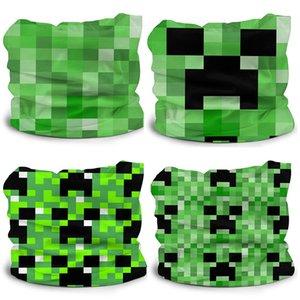 Minecraft tutta larghezza stampato Ice sciarpa di seta per il bambino Struttura della pelle-friendly traspirante acqua-assorbente rapida essiccazione soft Turbante Epacket