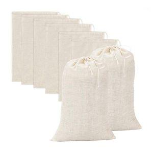20 Stück große Muslin-Taschen Baumwollkordelzug-Beutel, Brühbeutel (8 x 12 Zoll) 1