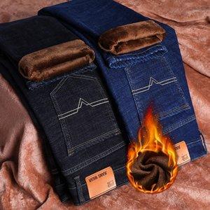 Shan Bao Klasik Marka Cep Erkekler Gömme Pamuk Streç Kış Rahat Sıcak Kot Yüksek Kalite Gençlik Rahat Denim Jeans1