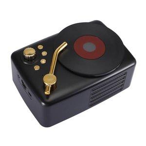 T12 Bluetooth5.0 Speaker Retro Mini USB portátil de rádio sem fio Bluetooth Speaker / Speakers TF Music Player Hifi Subwoofer