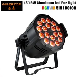 Gigertop Par LED 18x15w 5en1 llevó latas de par RGBWA Con DMX512 de sonido activado club de la etapa del disco Luz