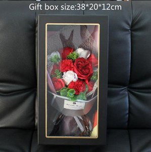 New Party Favor Flowers Bouquets Carnation Roses Soap Bouquets Gift Boxes Mothers Day Valentines Day Rose Gift Box Christmas Gift
