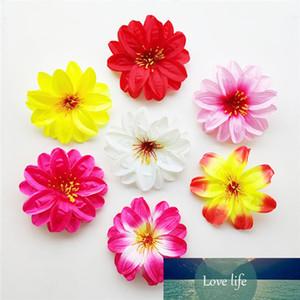 10pcs 6color Artificial Lotus Water Lily Dahlia Flower Head for DIY Hair Accessory Cap Clothes Decorative Wedding Flower Bouquet