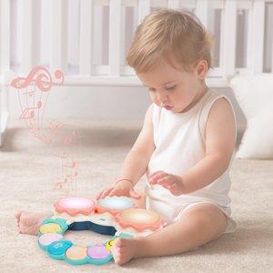 Beiens Educacional Mão Eletrônica CLAP Drum Desenvolvimento Colorido Bebê Inteligência Drum Aprendizagem Musical Brinquedos Presentes para Babys C0122