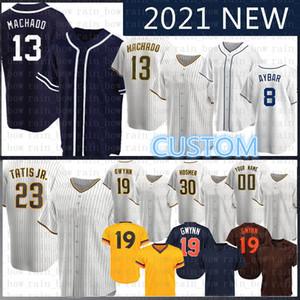 2020 Nouvelle personnalité 23 Fernando Tatis Jr. 13 Manny Machado Jersey de baseball Tony Trevor Hoffman Chris Paddack Eric Hosmer Jurickson Margot Meyers