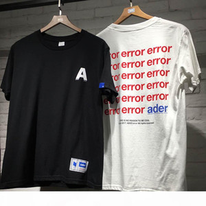 19SS New error Letter T-Shirts High Quality Casual Fashion Ader error Tees Men Women Colored Hip Hop Adererror T Shirts MX200721