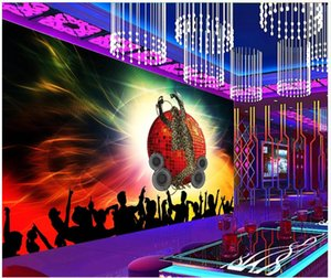 Custom photo wallpaper 3d mural wallpapers Modern ktv bar painting Beautiful ballroom KTV tooling image wall background wall papers decor