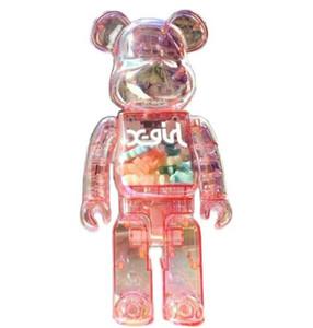 Newset 400% 28 cm The Bearbrick ABS Bright Color e trasparente Luce notturna BE @ rbrick Art Work Lavoro Decorazioni Decorazioni regalo