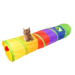 Practical Cat Tunnel Pet Tube Collapsible Play Toy Indoor Outdoor Kitty Puppy Toys For Puzzle Exercising Hiding Training And R bbyIWT