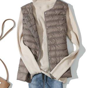 2020 Winter Vest Female Women's Plus Size 3xl Sleeveless Jacket Warm Waistcoat Autumn Lightweight White Duck Down Vests Women
