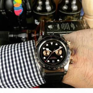 Novo Luxo couro preto Assista on-line Movimento automático Aços Inoxidáveis Strap 81933 Mens Watch Relógios frete grátis