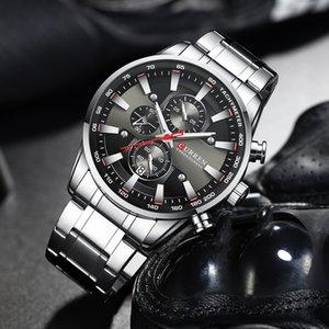 2020 Top Curren Watch Herren Armbanduhr mit Edelstahlband Fashion Quarzuhr Chronograph Leuchtkörper, einzigartige Sportuhren
