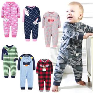 Newborn baby boys spring baby Romper girl romper Infant fleece Jumpsuit for kids new born