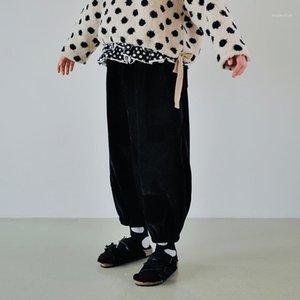 imakokoni heer nao design original harem calças mulheres 2021 outono e inverno espessura solta calça casual1
