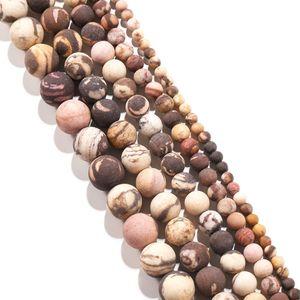 1Strand Lot Naturstein schwarz Zebra Rhodonitperle Runde Lose Spacer Perlen Für Schmuck Fundungen DIY Armband Halskette H BBYSRG