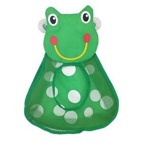 Baby Shower Bath Toys Maglia Borsa Cartoon Duck Ran Frog Bambini Giocattoli di stoccaggio Mesh con Forte Aspirazione Borsa Toy Bag Net Bathroom Organizer all'ingrosso