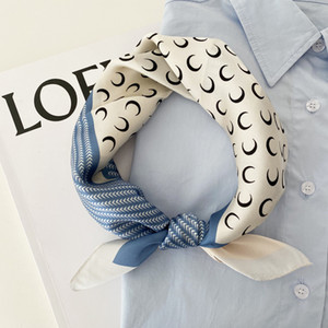 2020 Belle impression Sac de luxe Sangle Foulard Foulume Foulard Soie Feuille De Mode Écharpe Écharpe Square Echarpes Sac Accessoires Ruban