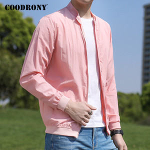 COODRONY Brand Light And Thin Sun-protective Clothing Bomber Jacket Men Spring Summer Fashion Casual Mens Coat Windbreaker P8003 201019