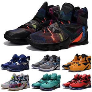 ما lebron 13 الأحذية الثالث عشر رجل الاطفال كرة السلة للبيع lebrons ملون عيد الميلاد bhm الأزرق عيد الفصح halloween akronite