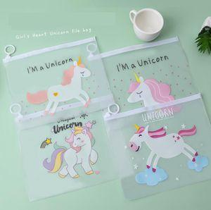 Unicorn Designs Стационарная сумка Прозрачные ручки сумка Женщины пластиковые карандаш мешок путешествия составляют красоту туалетные мешки женские макияж организатор