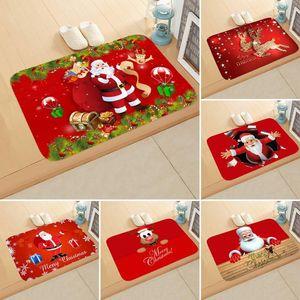 Noel Mat Açık Halı Paspas Santa Süs Noel Dekorasyon Ev Noel Yeni Yıl Hediye için 40 * 60 cm DHA2181