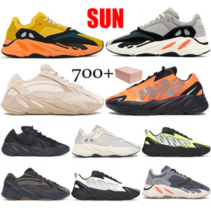 700 V1 V2 Reflective Cream Sun Orange Tie-dye Runner Kanye West Carbon Teal Blu Magnete Solid Grey Statico Nero Uomini Donne corsa scarpe da tennis