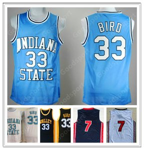 Hot Indiana State College NCAA Larry cucito 33 uccello cucito ricamo swingman jerseys shorts shirt classit sport basket k