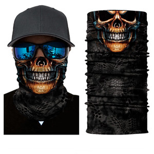 Magic Scarf Bandana Bicycle Seamless Skull Headband Neck Cycling Head Scarf Scarves Turban Mask Outdoor Sports UV-protection Mask VTKY2084