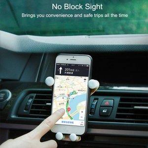 Support de téléphone de voiture Stand Smartphone Stand Smartphone Porte-smartphone Gravity Titulaire de téléphone portable Stand pour téléphone dans la voiture Smile Face Bear SQCHDC