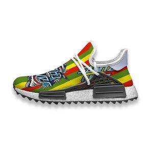 Пользовательские кроссовки Green Santa Cruz Логотип Human Race NMD Trail пару моделей случайные кроссовки легкие