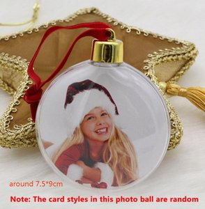 Sublimazione Ornamenti di Natale San Valentino regalo della sfera rotonda del partito fai da te Xmas Dress up Albero ornamenti ciondolo regalo di natale HH9-3399