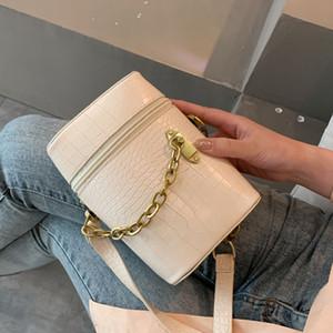 Women Shoulder Bag PU Chain Crossbody Bag Mini Cylindrical Clutch Bag Fashion Cute Ladies handbag