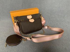 Diseñadores 3 conjunto de pieza genuina Artículo de mujer Crossbody Bag Designers de cuero de lujo Monederos Venta Venta de Lady Tote Bolsos Bolsos Moneda Tres BA Febx