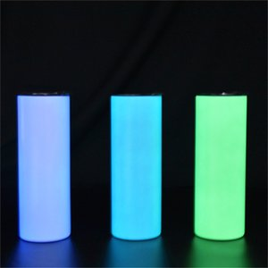 20oz Sublimation Glow in the Dark Tumbler luminous Skinny cups Easter Day Bulk Fluorescent Creative Mugs Wholesale Stainless Steel Water Bottle