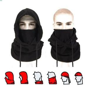 Winter Fleece Beanies Hats Mask Men Thermal Hooded Neck Warmer Ski Cap Outdoor Windproof Hooded Neckerchief Cap DDA731