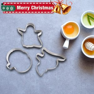 Christmas Pattern Mold Creative Stainless Steel Baking Tools Diy Cookie Mold Kitchen Accessories Natale Decorazioni Home Decor yxlYos