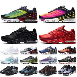 ayakkabı nike air max plus 3 tn 3 airmax tn plus Tuned air vapormax erkek koşu ayakkabıları boyutu 13 Hiper Menekşe Siyah Kırmızı erkek eğitmenler kadın spor ayakkabı