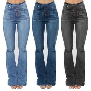Taille haute Femme Denim Jeans Skinny Boot Cut Fashion Jeans Casual Slim jambe large Pantalon évasé taille plus vêtements XS-4XL