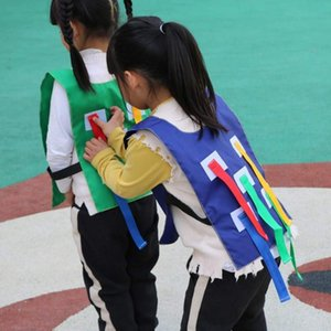 Pull Ausbildung Spielzeug Fang-Trainings-Spiel Jersey Außenkindergarten Kinder Sticky Weste Schwanz Kleidung Sport Umweltschutz