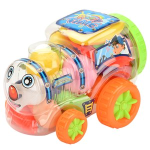 Child fun transparent locomotive series tea set tableware set high quality play house toy more accessories