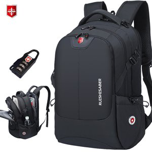 Марка Swiss 17 дюймовый ноутбук Рюкзак Мужчины USB зарядка Путешествия Рюкзак сумка школы нейлон водонепроницаемый рюкзак Женщины Bagpack Mochila C1008