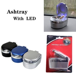 Creative Ashtray With Led Lights With Cover Universal Car Family Expenses Personality Covered Car Inside Car Supplies