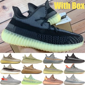 Men casual Reflective kanye west v2 shoes Abez Asriel earth zyon cinder oreo linen cloud white black static mens women Sneakers trainers