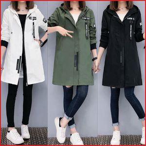 Semfri Jacket Women Autumn Winter Chaqueta Mujer Plus Size Slim Baseball Clothes K Pop Medium Length Windbreaker Coats 201017