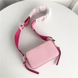 2020 Damen echtes Leder kleine quadratische Tasche Breiter Schultergurt Disco Zipper Schultertasche Wallet Famous Handtaschen-Dame-Art-Umhängetaschen