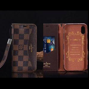 Mode Paris Show Designer Phone pour iPhone 12 12pro max Xs XR Xsmax de qualité supérieure Porte-cartes en cuir Téléphone pour iPhone 11 pro max