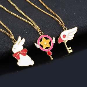 Anime Sailor Moon Necklace Star Wing Bird Cartoon Pendant Gold Chain Necklaces for Women Kids Jewelry Gift